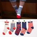 6Pair/pack Autumn British Flag Tyle Baby  Cotton Socks for Boys and Girls All-match Tube Children Socks