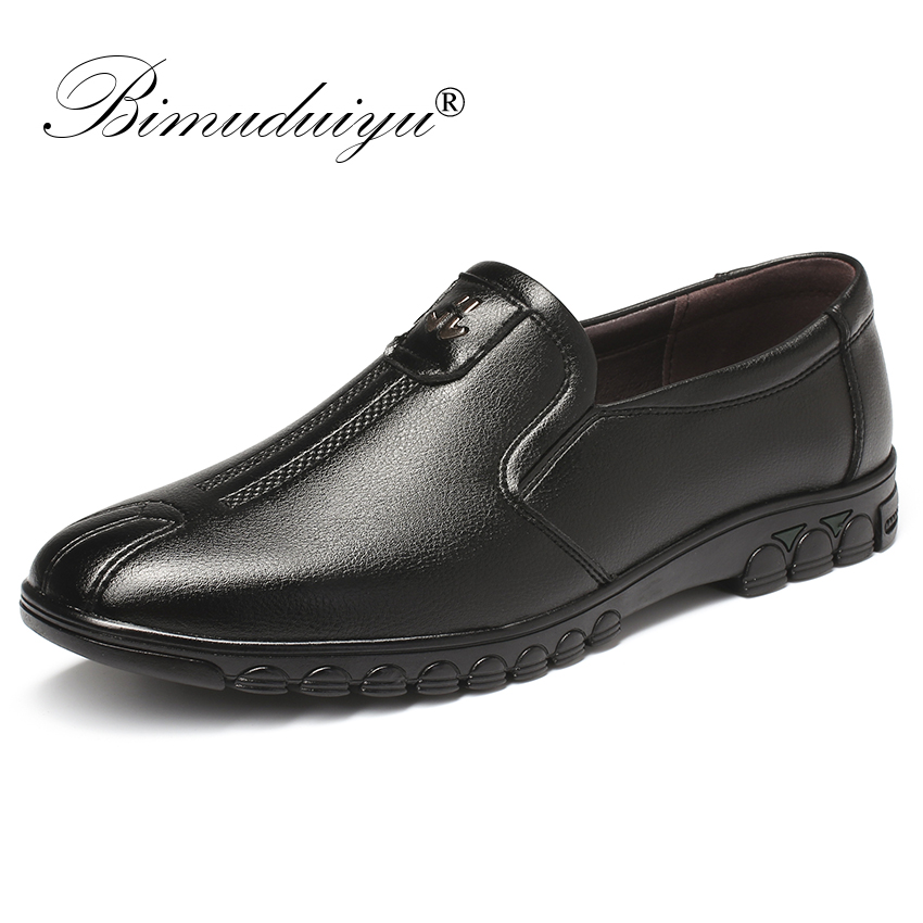 BIMUDUIYU British Style Casual Men Loafers Shoes Spring Autumn Shoes Comfortable Slip-On Flats Shoe Comfortable Korean Shoes Men