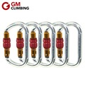 GM CLIMBING Carabiner 25kN Oval Large Carabiners Screw Locking for Rock Climbing Rappel Rescue Mountaineering Equipment