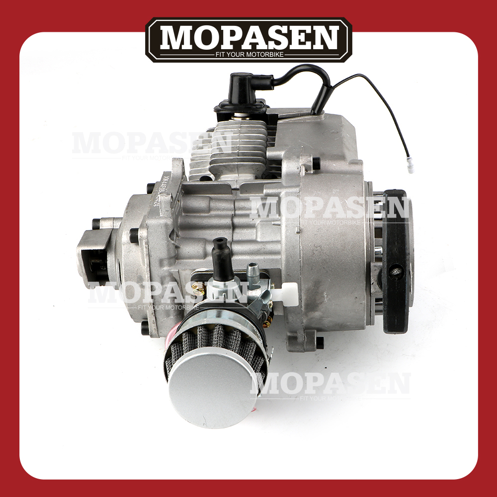 2 Stroke Engine Motor with Gear Box for 47CC 49CC 50CC Mini Pocket Bike Gas ATV Quad Bicycle Dirt Pit Bikes Motorcycle Parts authentic motor bicycle fittings jh125 motorcycle parts 2 clutch gustavo