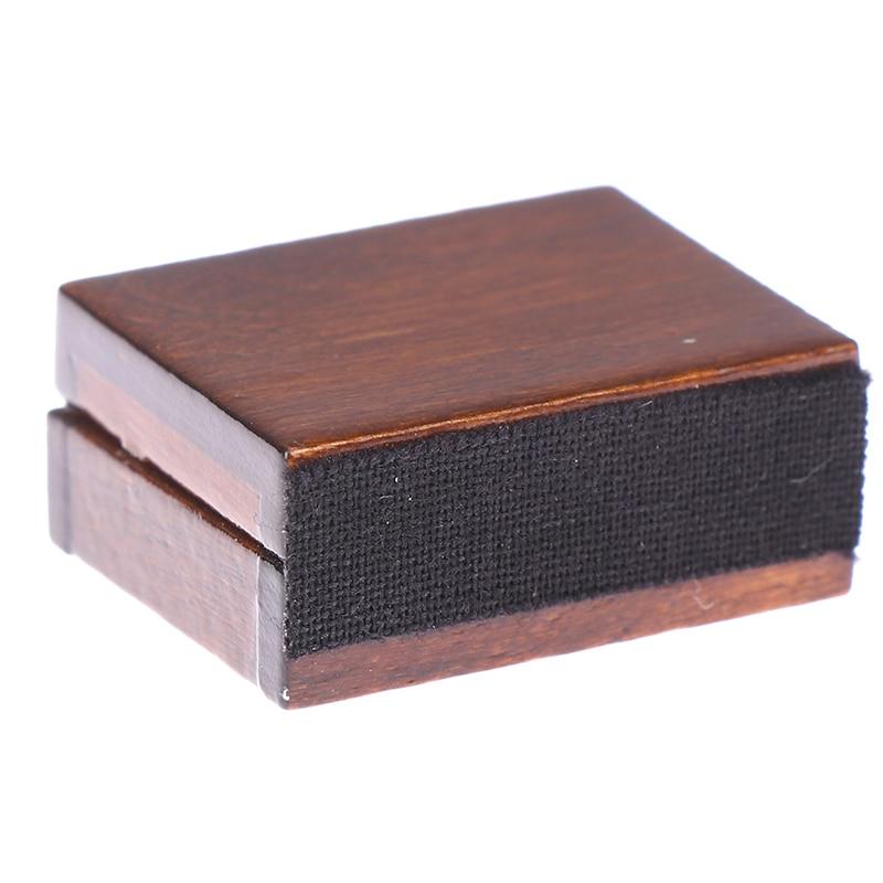 Wooden Cigar Cigarette Box Miniature Tobacco Humidor 1:12 Dollhouse Accessories