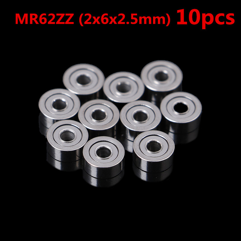 Hot 10Pcs MR62ZZ  MR83 693ZZ Metal Shielded Precision Ball Bearings Mini Bearings Wholesale (2x6x2.5mm)