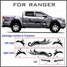 Car exterior full body rear tail side graphic vinyl for Ford ranger 2012-2017  for hilux for dmax for l200 for bt50 цена в Москве и Питере