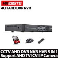 Free Shipping Hot Sale Home Security CCTV AHD DVR 4CH HD 1080N Video Recorder H 264