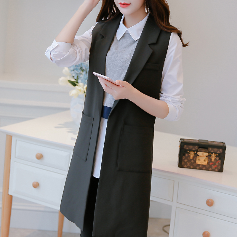 95f628917 Veste Femme Vest Women Long Vest Veste Fourrure Femme 10-in Vests &  Waistcoats from Women's Clothing & Accessories