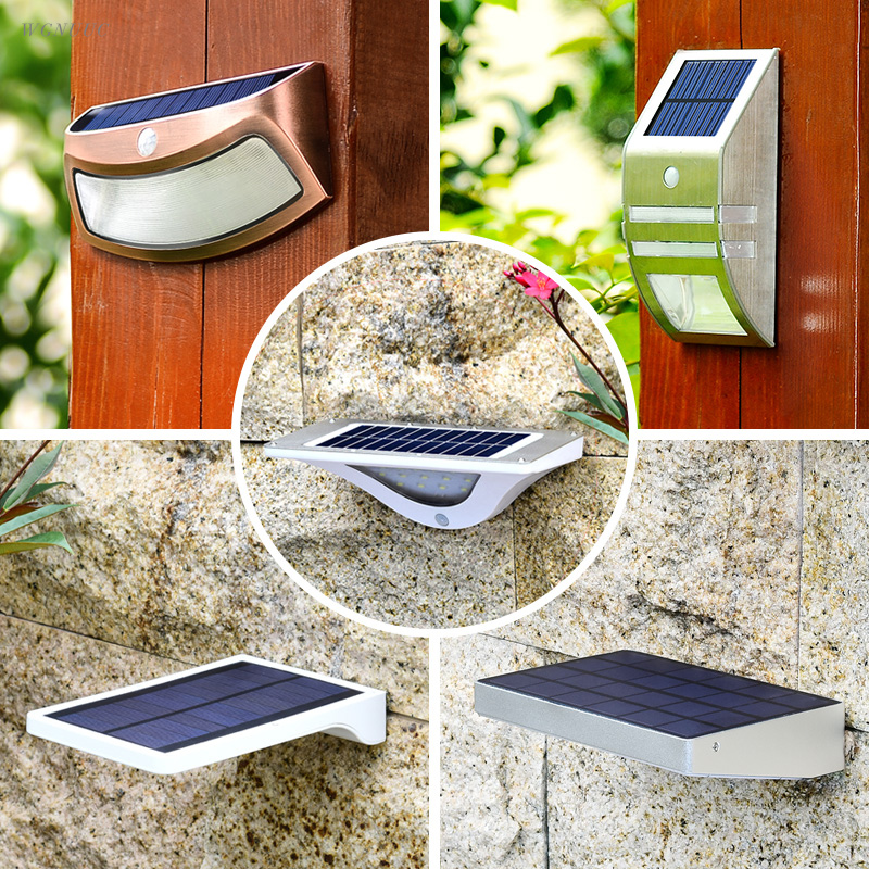 Waterpoof IP65 LED Solar Light Human Body Induction Lamp Energy Saving Outdoor Lights Garden Courtyard Solar Sensor Wall Lamps