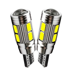 2Pcs LED T10 W5W 10 SMD 5630 5730 LED Car Marker Light Auto Lamp 12V Light Bulbs for ford focus 2 3 fiesta mondeo ecosport kuga(China)