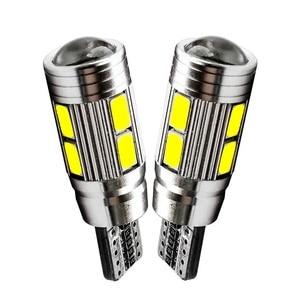 2Pcs LED T10 W5W 10 SMD 5630 5730 LED Car Marker Light Auto Lamp 12V Light Bulbs for ford focus 2 3 fiesta mondeo ecosport kuga(China)