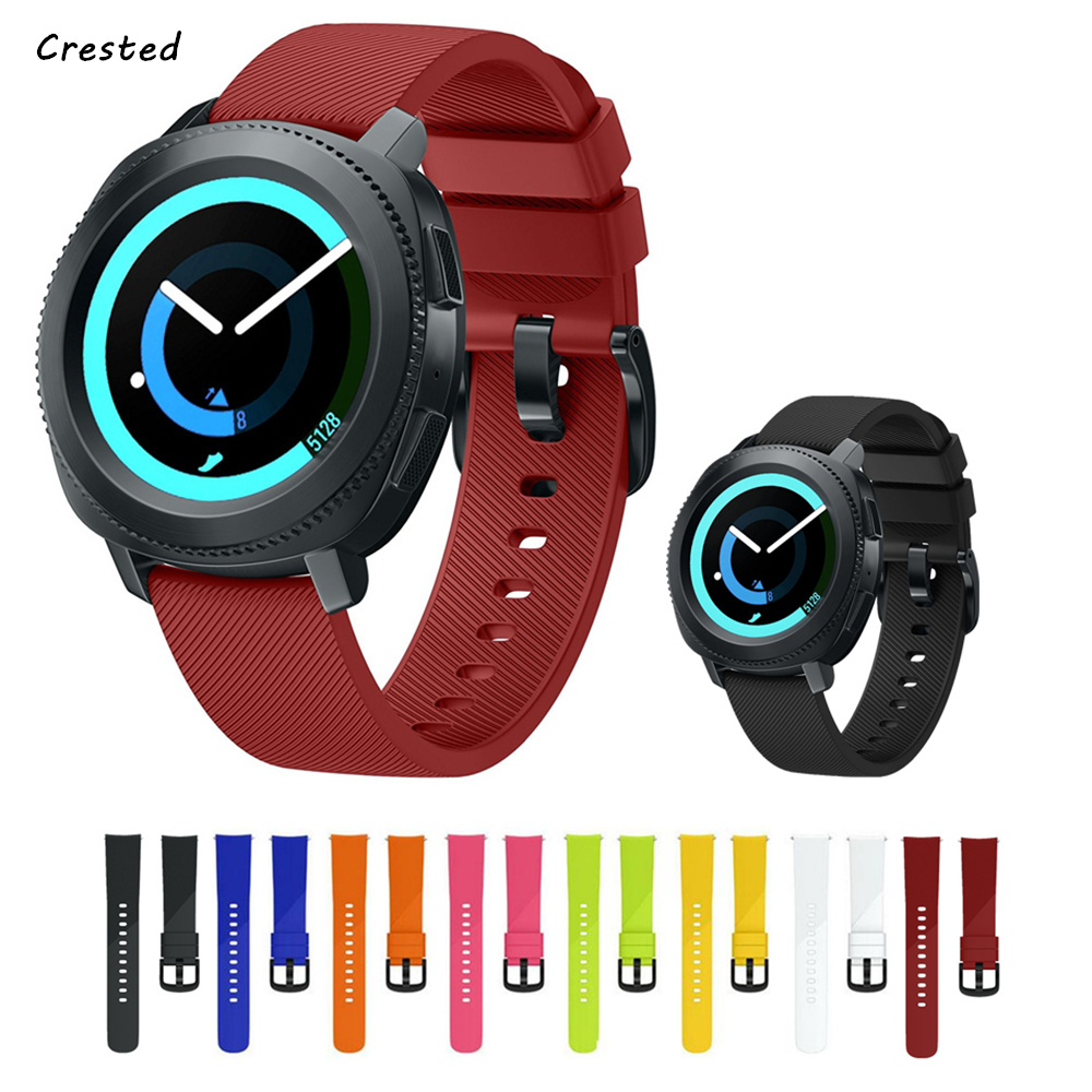 цена на Silicone band for Samsung gear S2 classic strap smart watch band for Samsung gear sport strap 20mm wrist bracelet metal buckle