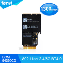 Hot sales For Apple Broadcom BCM94360CD Dual band 802 11ac Wireless Wifi Bluetooth Mini PCI e