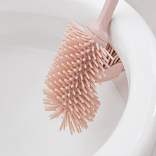 removable nano material Japanese style gear toilet brush escobilla wc with bracket pink gray white free shipping