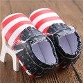 Новая Мода Новорожденный Мальчик Мокасины обувь ИСКУССТВЕННАЯ кожа Флаг детские Первые Ходунки Детская Обувь Мягкой Подошве Флаг США Anti-slip обувь