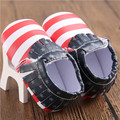 New Fashion Newborn Baby Boy Moccasins shoes PU leather Flag Baby First Walkers Kids Shoes Soft Soled USA Flag Anti-slip Shoes