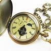 100 Brass Antique Moonphase Mechanical Pocket Watch