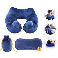 Automatic Inflatable U Shape Pillow 3D Hump Portable Travel Pillow Neck Head Travel Nursing Neck Pillows For Flight Office Sleep