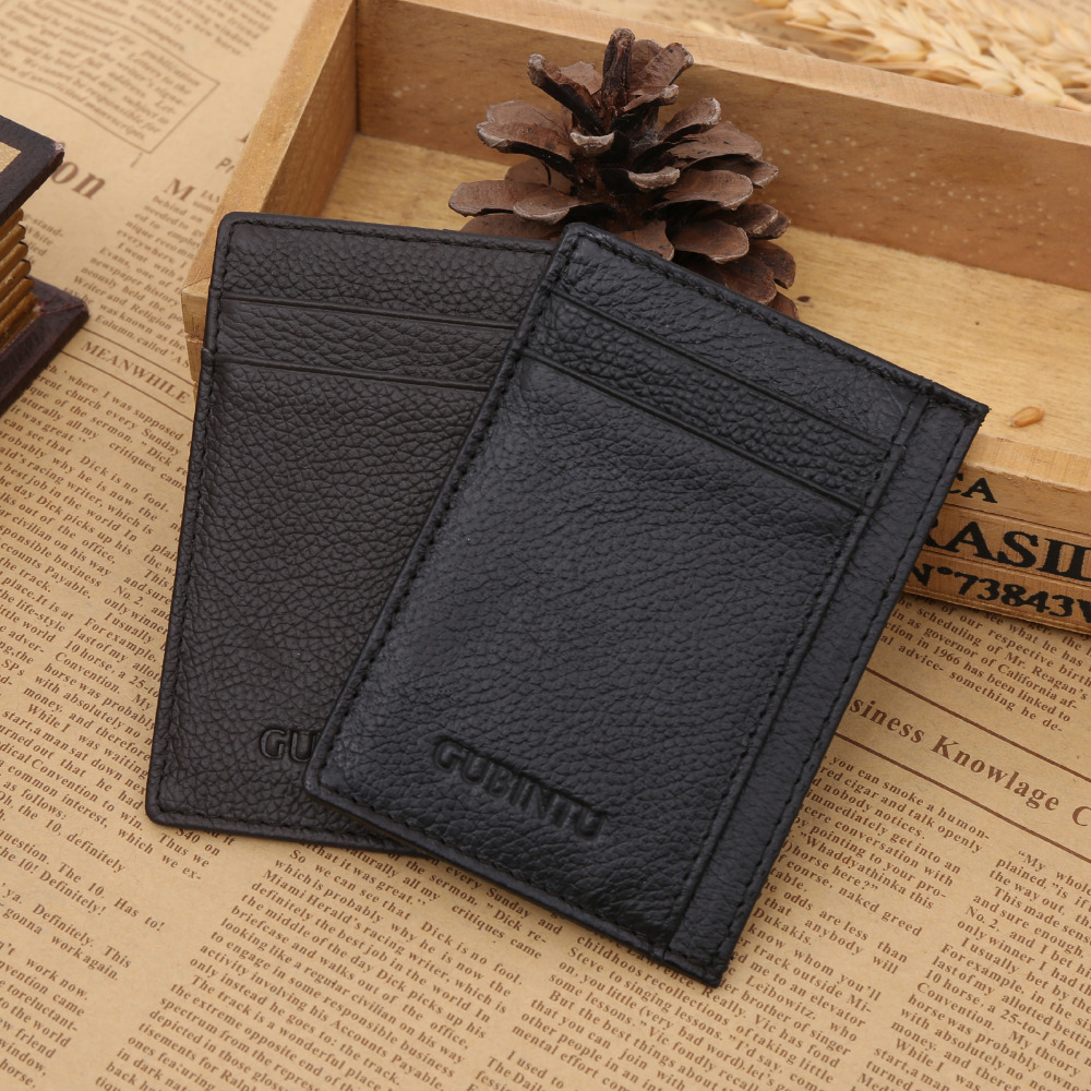 Gubintu Fashion Vintage Retro Texture Mini Id Holders Business
