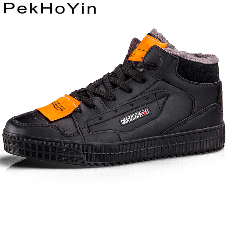 Thick Sole Winter Warm Fashion Sneakers Leather Brand Men Casual Shoes Black Male Walking Shoes Flats Superstar Men Boots Shoes high quality fashion men casual shoes brand superstar footwear male platform shoes black thick sole luxury men shoes white flats