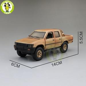 Image 2 - 1/32 Jackiekim Hilux Pick up Truck with Anti tank Gun Diecast Metal Model CAR Toys kids children Sound Lighting gifts