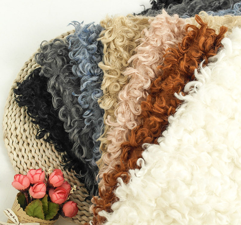 Curly circle faux fur blanket for baby photo props,basket cushion filler,baby photography shoot blanket photo props(50*80 cm) new arrrival acrylic 150x100cm faux fur blanket basket filler newborn baby photography props blanket