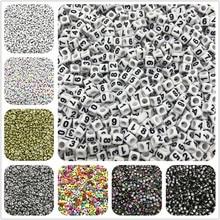 Contas de acrílico de número misto 1-9, berloque de letras acrílico, pulseira, colar para fazer jóias, acessórios de contas com 100 peças