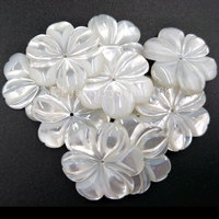 10pcs Wholesale Free Shipping Fashion Jewelry 24mm Beautiful White Mother of pearl Shell Art Flower wommen Pendant Bead MC4815