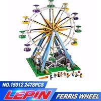 New LEPIN 15012 2478Pcs City Creator Expert Ferris Wheel Model Building Kits Blocks Bricks Toys Compatible 10247