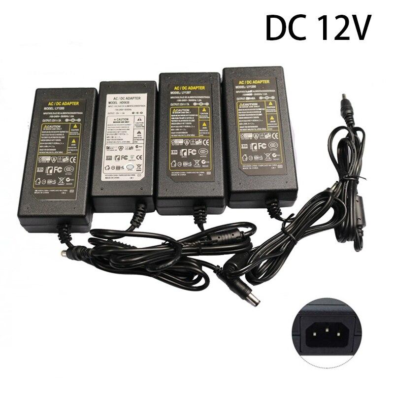 DC 12V 2A Power Adapter Transformer 3528 5050 5360 LED Strip Light CCTV Cameras