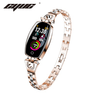 CYUC H8 women smart wristband fitness tracker bracelet Heart Rate Monitor blood pressure oxygen smart band best gift for Lady