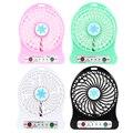 Summer Office Portable Mini Usb Fan USB Rechargeable 2200mAh Li-ion Battery Multifunctional Fan 4.5W Cooling Fan