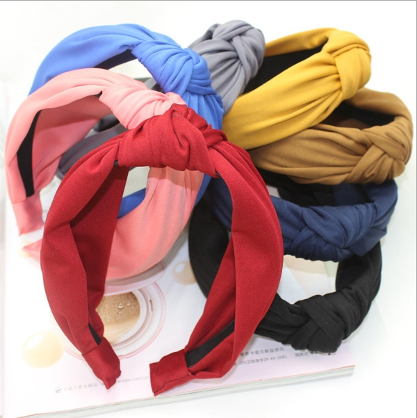 Grid cloth hair hoop fashion headband hoop clasp womens girl headhand headwear accessories Mix colors ...
