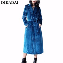 Fashion Long Blazers and Jackets Women blue velvet blazer Long Sleeve OL blaser femenino 2017 Fall