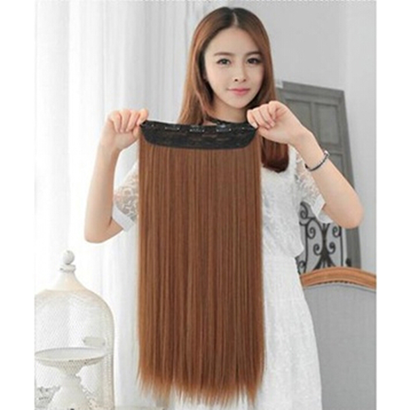 Fashion Women Wig High Quality Dull Rayon Straight Hair Extention