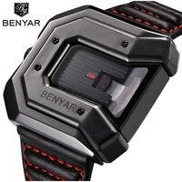 Top Brand BENYAR new creative quartz watch men's brand leather multi purpose waterproof luxury business watch sports men's watch