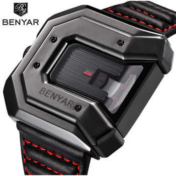 Top Brand BENYAR new creative quartz watch men's brand leather multi-purpose waterproof luxury business watch sports men's watch - DISCOUNT ITEM  46% OFF All Category