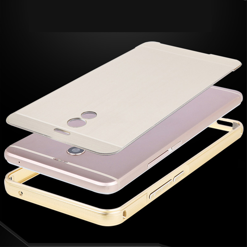 Luxury High Quality Plating Aluminum Metal Frame Streak PC Back Cover Case For Meizu M6 Note Anti knock Protection Cases in Fitted Cases from Cellphones Telecommunications