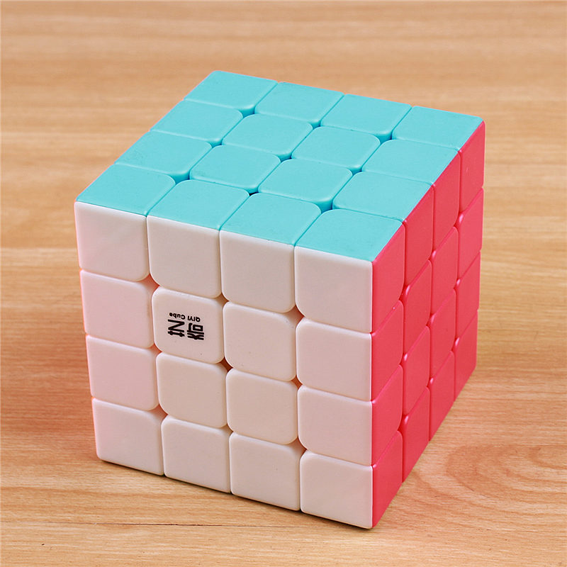 QIYI 4x4x4 Magic Speed Cube Sticker Less Professional Puzzle Cubes  Educational Toys For Children Wholesale