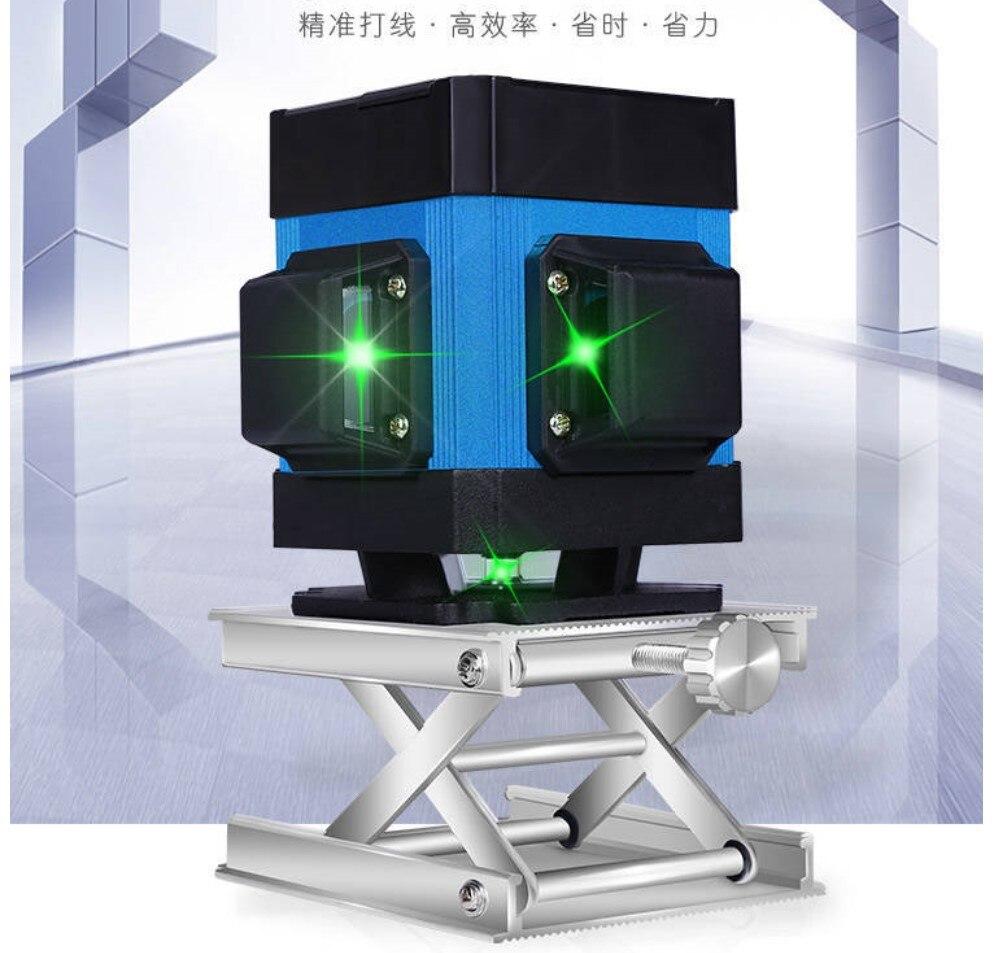 Muli 3D12 Luz Verde Telha de Pavimentação de Nível de Linha de Aterramento Instrumento Decoração Linha Horizontal de Medição Altura 7mm Controle Remoto
