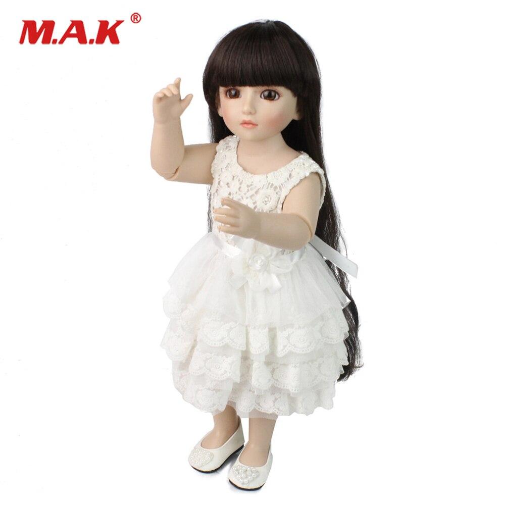 48cm bebe reborn Doll Full body Soft Silicone doll long black hair brown eye American girl doll toy for Children baby reborn lol цена