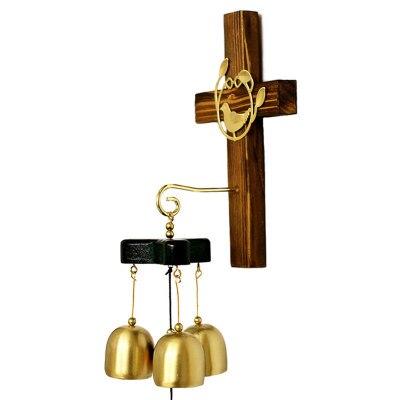 Христианские подарки высококлассные украшения для дома крестообразные украшения из чистой меди ручной работы крест колокольчики