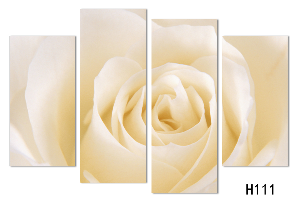 4 Panels Canvas Print White Rose Painting On Canvas Wall Art Picture ...