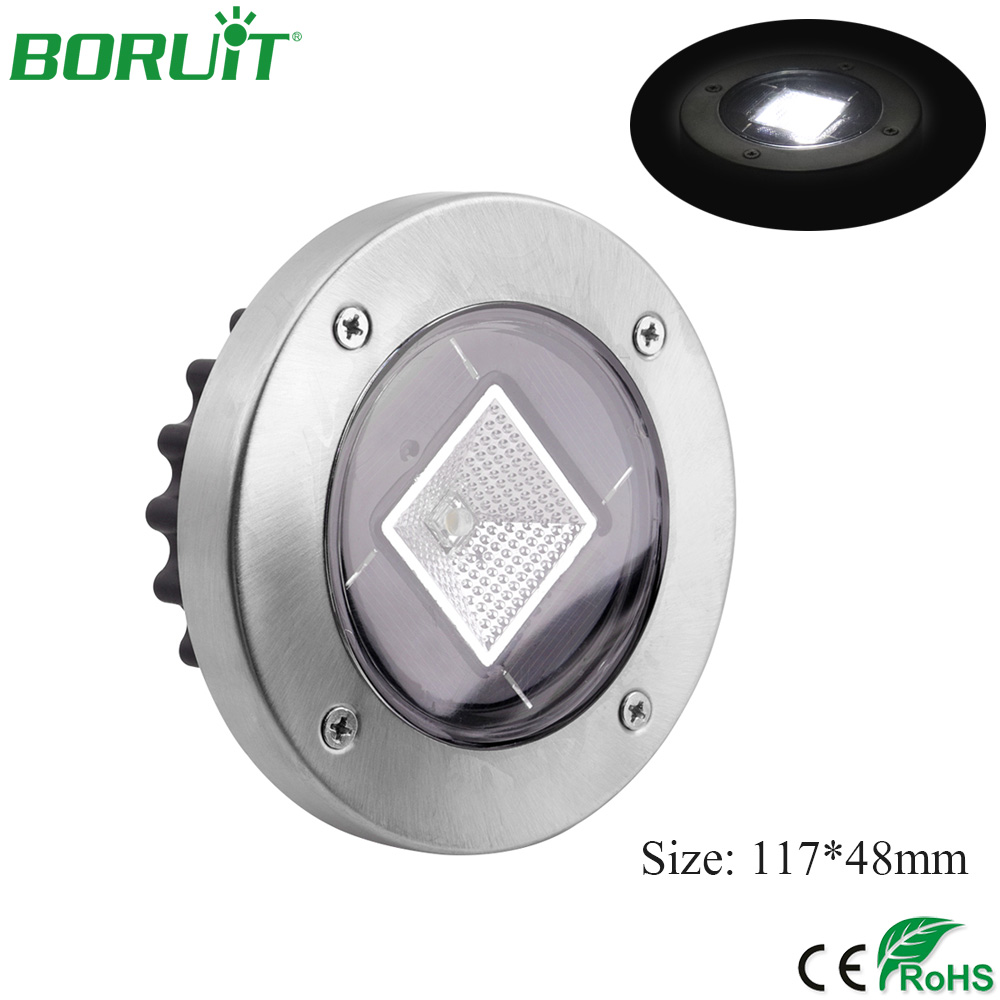 BORUiT 8 LED Solar Lamp Waterproof Outdoor Garden Yard Solar Light Landscape Solar Underground Light Lawn Lamp Pathway Light