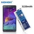 (EB-BN910BBE) 100% nohon 3220 mah alta qualidade bateria nova para samsung galaxy note4 n910f n910s n910l n910u n910k n910x baterias