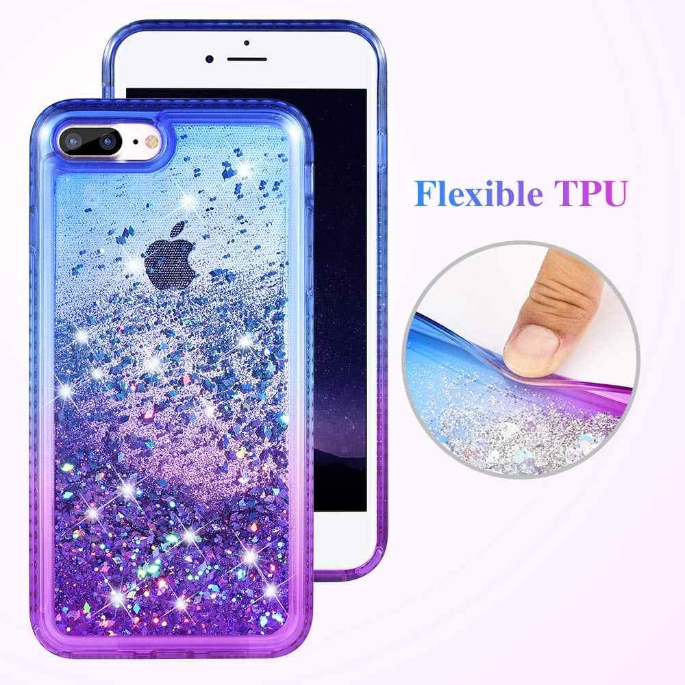 1f0723b04ee8d1 ... Gradient Quicksand Phone Cases for iPhone 8 7 Plus Glitter Bling  Protective Cover for iPhone 6s ...
