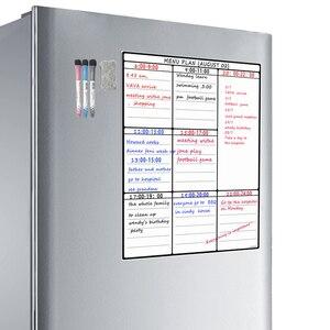 A3 доска для сушки стирания, лист для кухни, холодильник, семейный Органайзер, планировщик еды, блокнот, список покупок, холодильник, белая до...