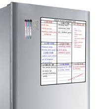 A3 Trockenen Löschen Whiteboard Blatt für Küche Kühlschrank Familie Veranstalter Mahlzeit Planer Memo Board Einkaufen Liste Kühlschrank Weiß Bord