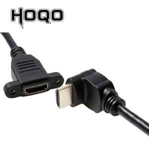 Image 2 - HDMI2.0 4K*2K Short Down UP Angle 90 Degree HDMI Male to Female Extension Cable HDMI panel mount with screw hole For PSP HDTV