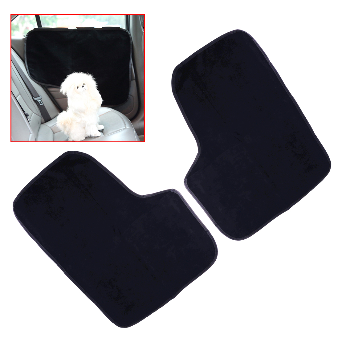 Beler 2pcs Black Car Door Side Guard Border Seat Cover