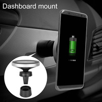 Magnetic Wireless Car Charger Vehicle Mount Phone Holder Air Vent Dashboard Stand For iPhone 8 Plus X Samsung S9 S8 Plus S7 S6