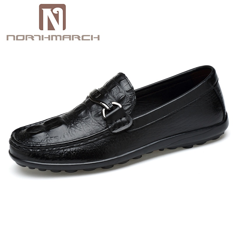 NORTHMARCH Men Casual Shoes Men Loafers Spring And Autumn Crocodile Pattern Shoes Genuine Leather Men's Flats Shoes Chaussure mycolen spring autumn men loafers genuine leather casual men shoes fashion crocodile pattern driving shoes moccasins flats