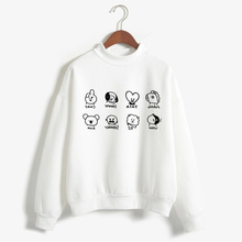 K Pop BTS Member Autorretrato Álbum LOVE YOURSELF Army Bomb Kpop Mujeres Moletom Clothes BT21 Korean Ladies Hoodie Sudaderas